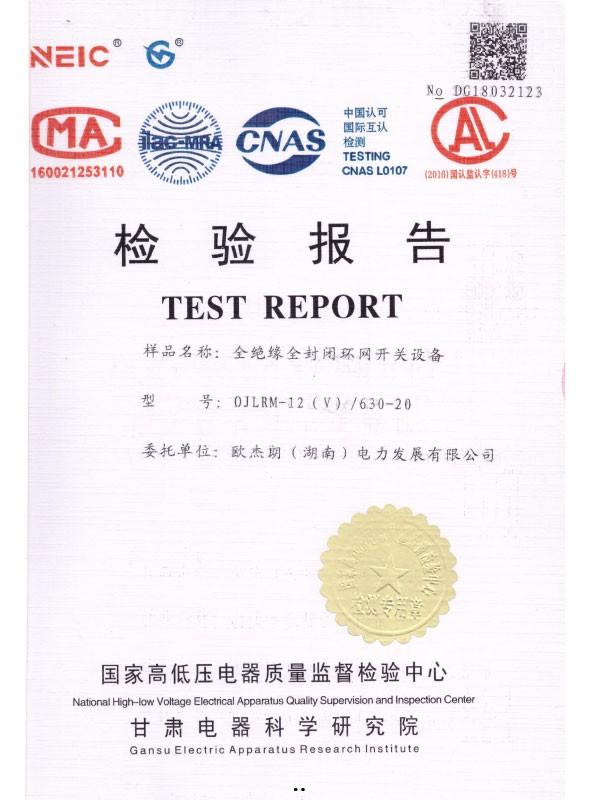 0JLRM-12(V)/630-20检验报告-1