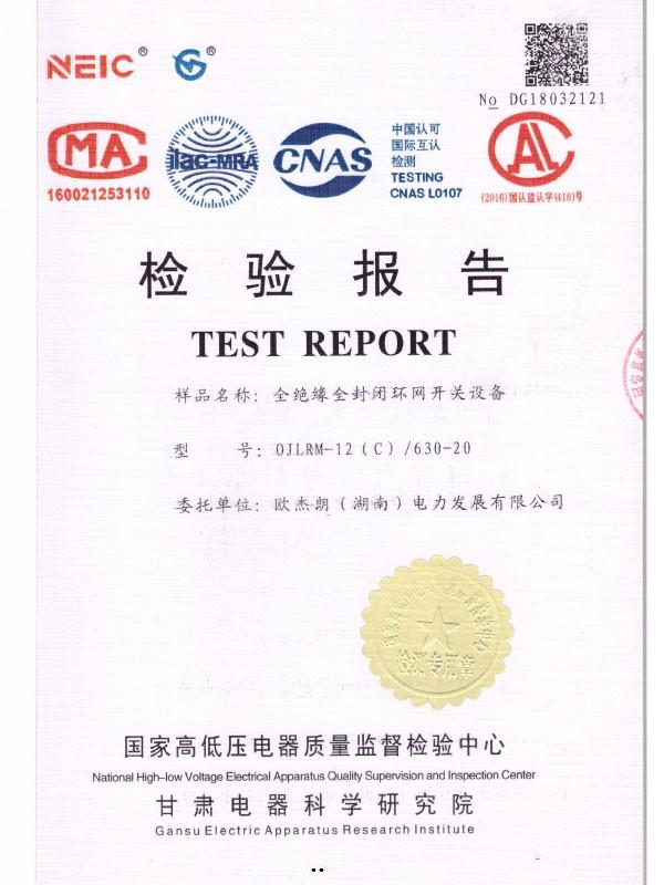 0JLRM-12(C)/630-20检验报告-1