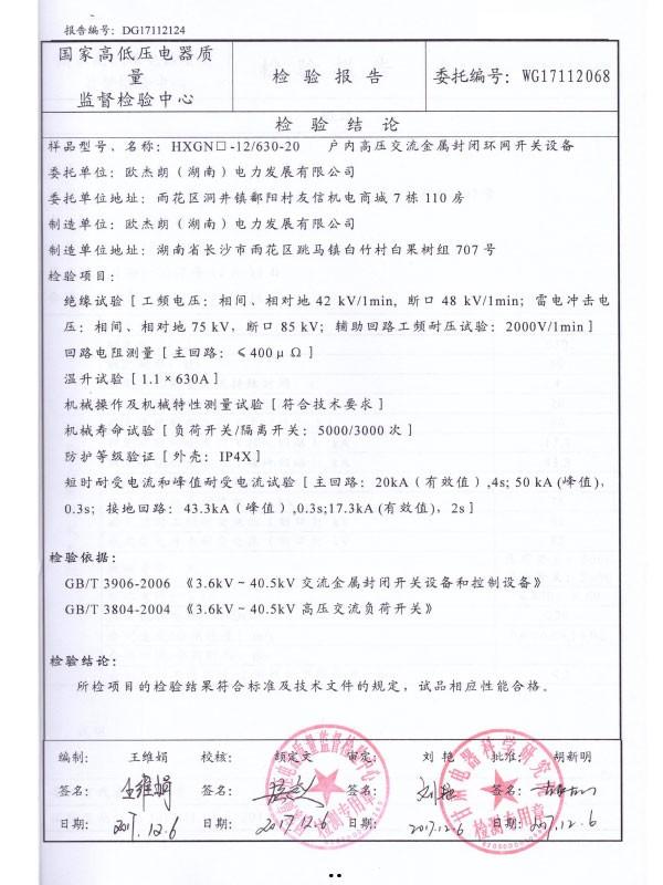 HXGN□-12/630-20检验报告-2